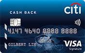 cash back card citi