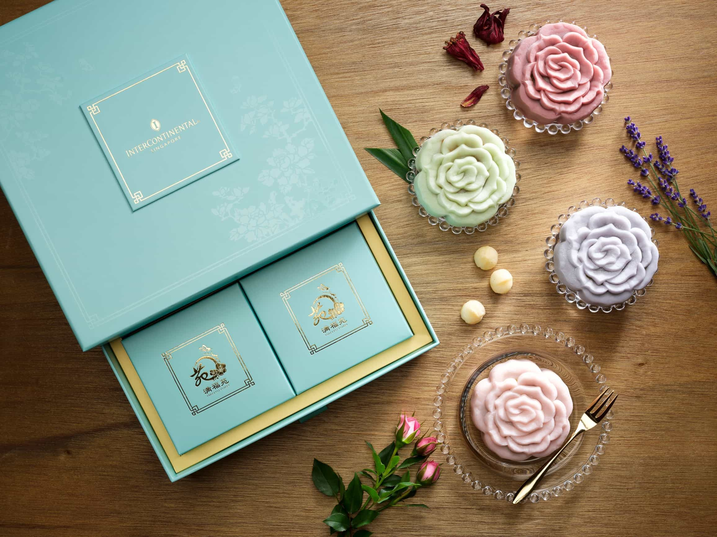 InterContinental Singapore Ambrosial Floral Snowskin Mooncakes 2017