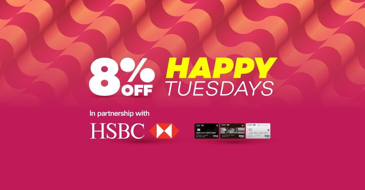 Lazada Singapore 8% OFF with HSBC Cards