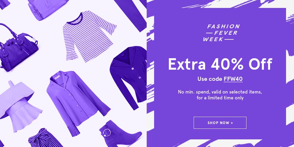 Zalora Fashion Fever Week 40% off