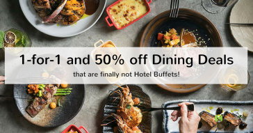 1-for-1 & 50% off dining deals