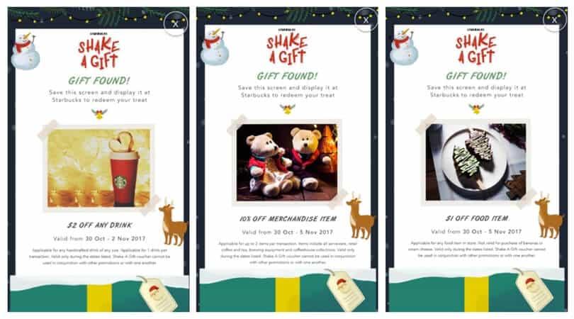 Starbucks Christmas Shake a Gift