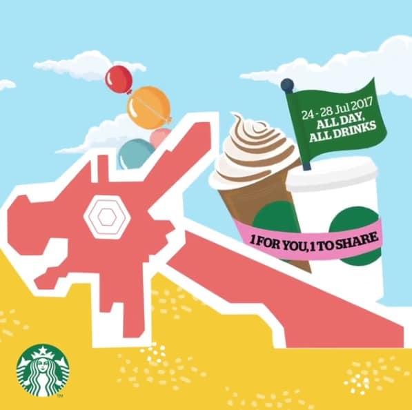 Starbucks 1-for-1