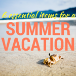Summer vacation essentials