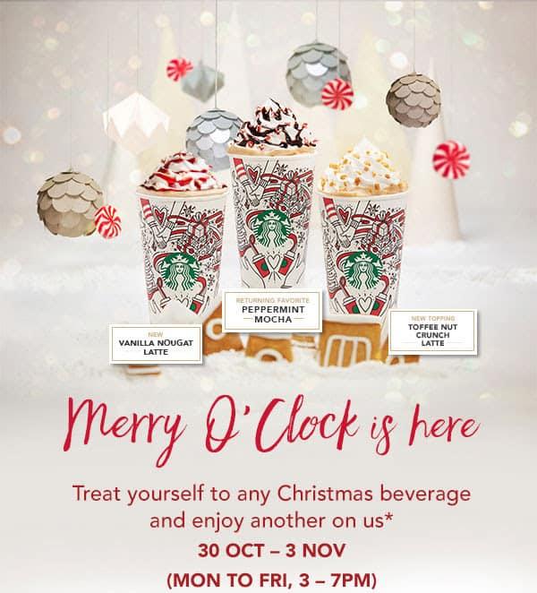 Starbucks Christmas Drinks 1-for-1