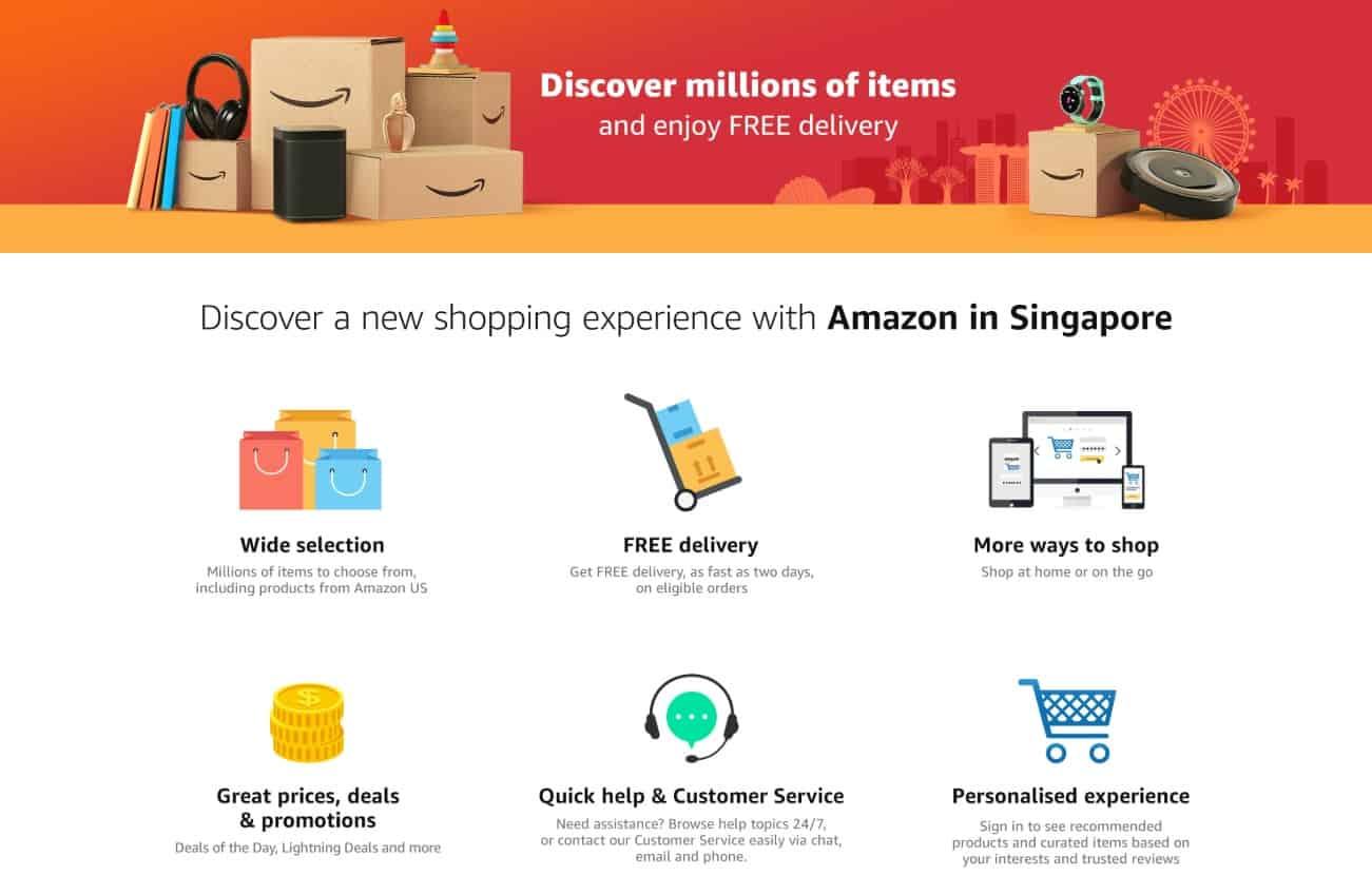 Amazon.sg benefits