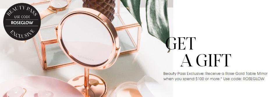 Sephora Free Gift - Rosegold Mirror