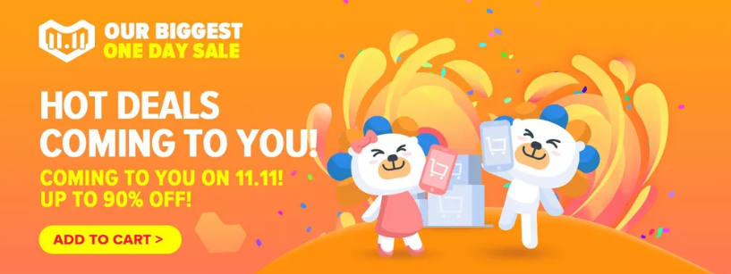 Lazada Singles' day promotion