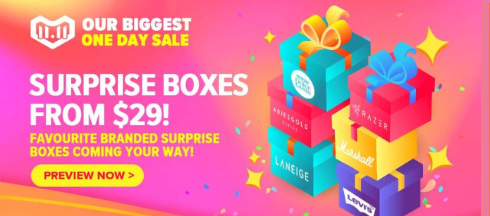 Lazada Singles day promotion