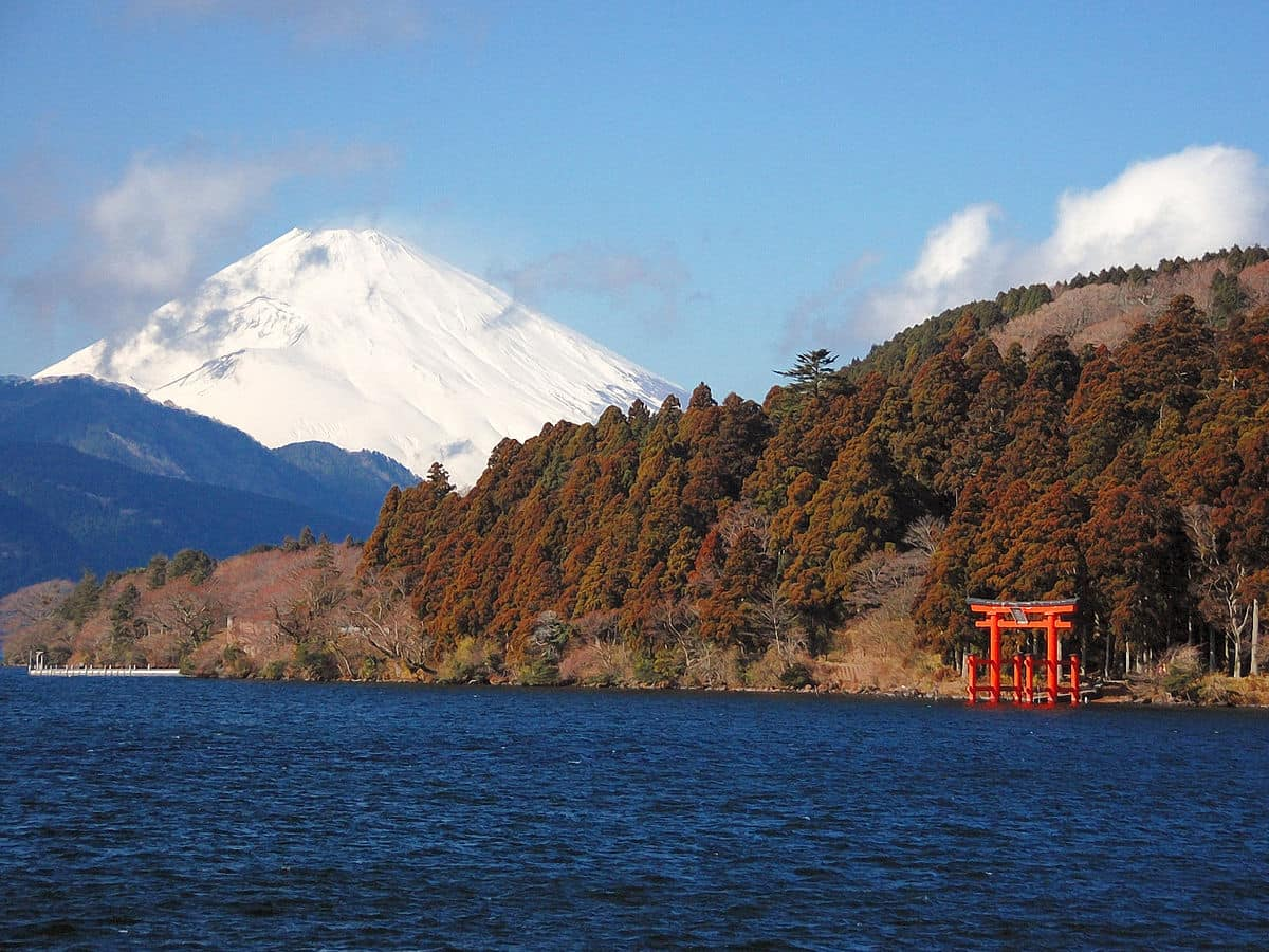 Mt Fuji from Lake Ashi