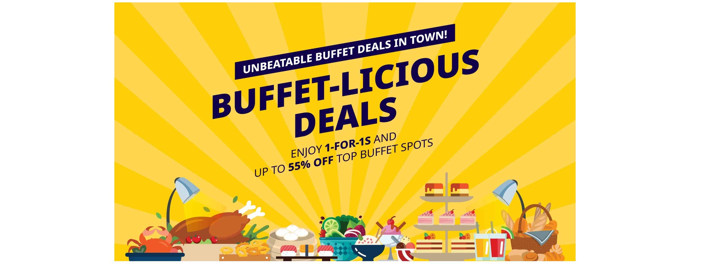 Chope 1 for 1 buffets