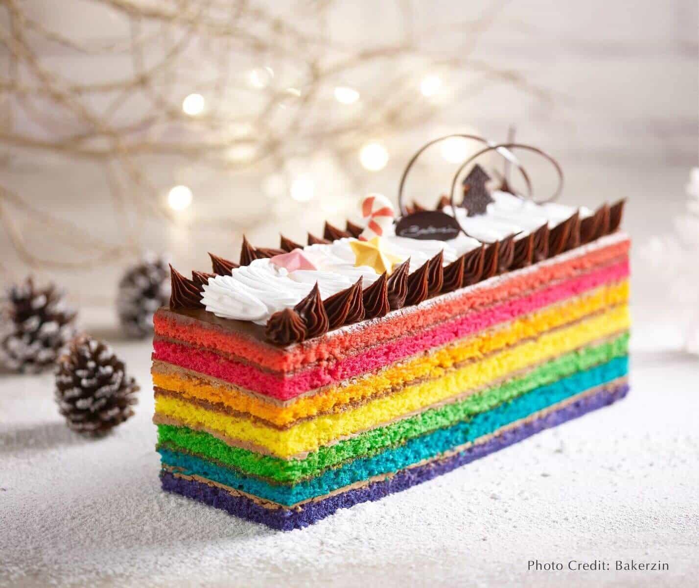 Bakerzin Christmas - Rainbow Yule Log