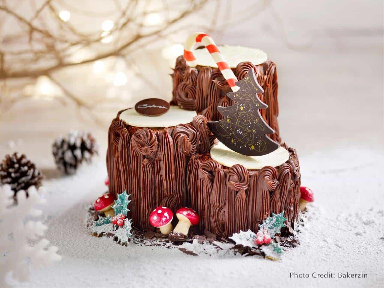 Bakerzin Christmas - Triplette Chocolat Cake Log