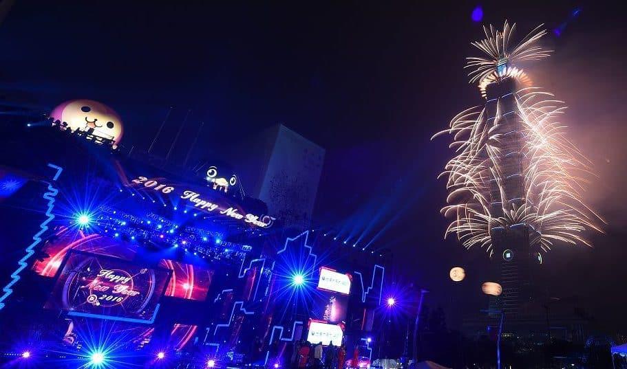 Taipei 101 Fireworks_Countdown parties in Asia