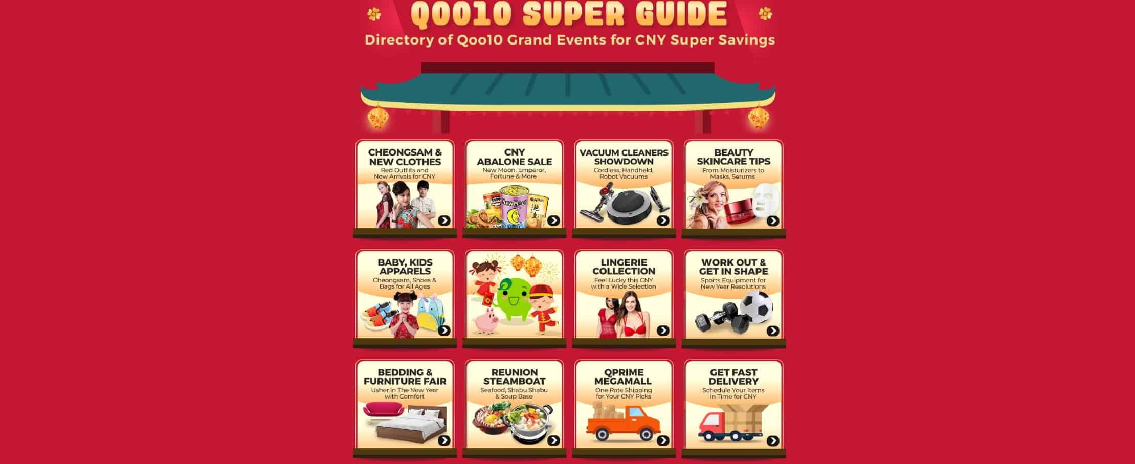 Qoo10 CNY Cart Coupon Sale