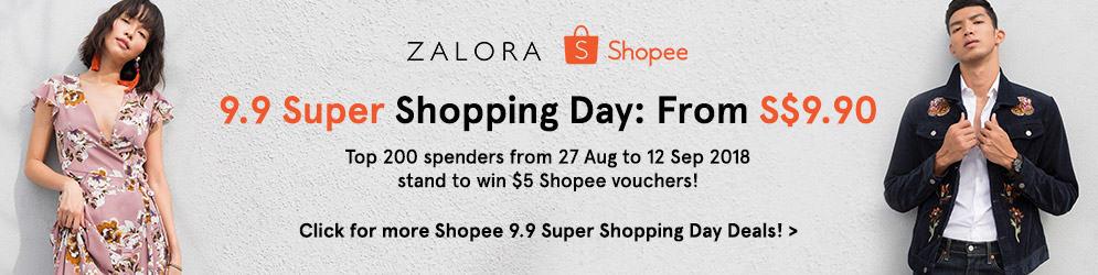 Zalora 9.9 Super Shopping Day Shopee