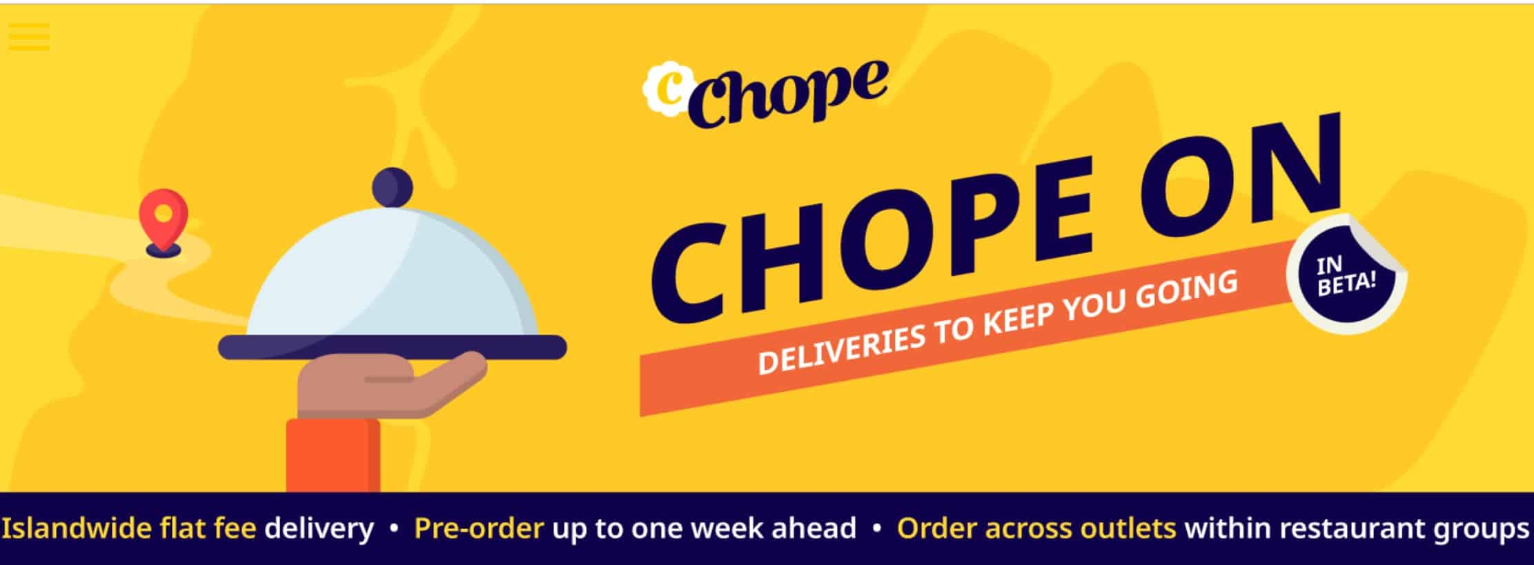 CHOPE Islandwide Delivery free delivery