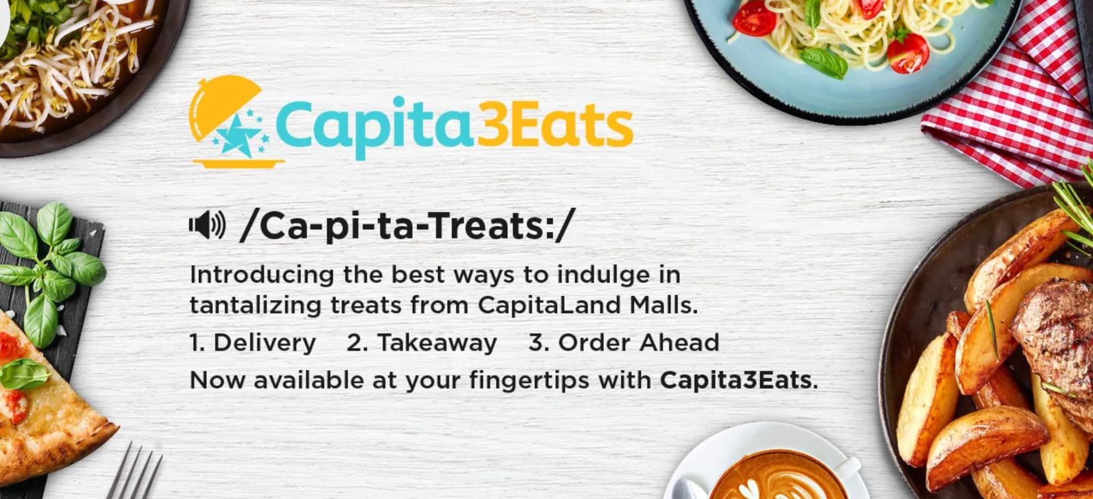 CapitaLand food delivery Capita3Eats