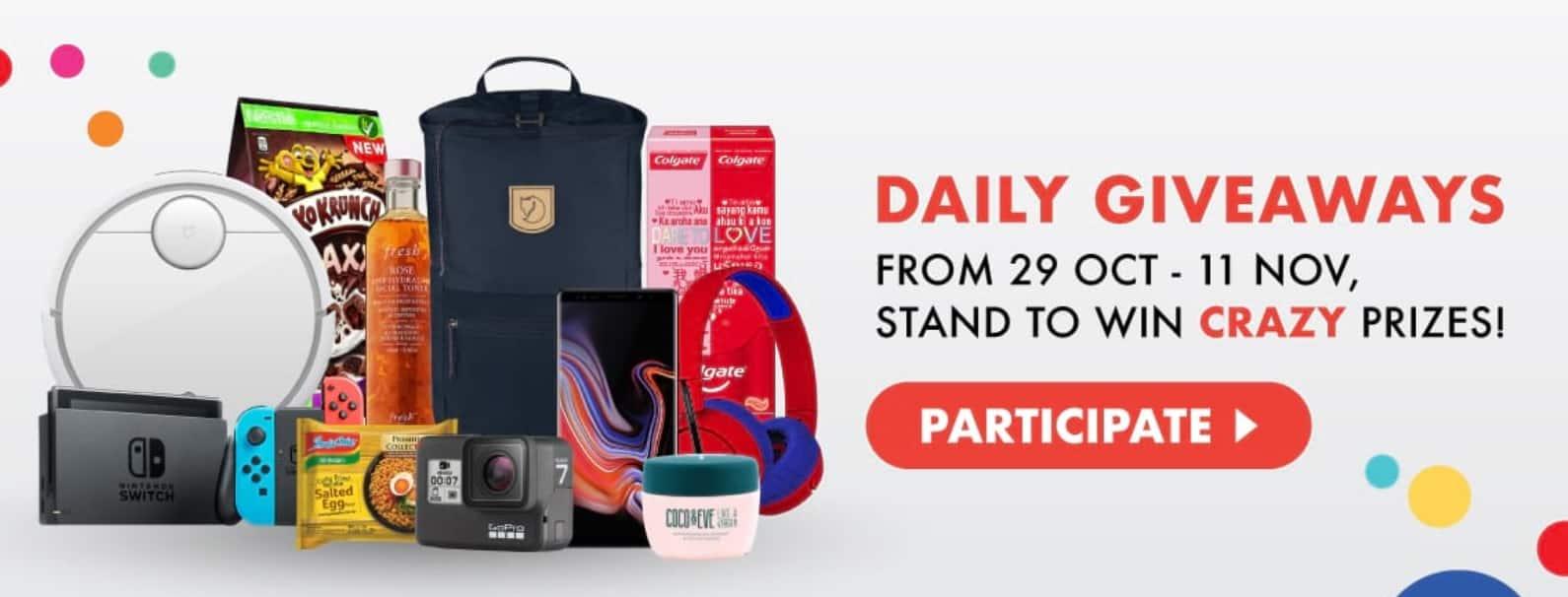 Shopee 11.11 giveaway