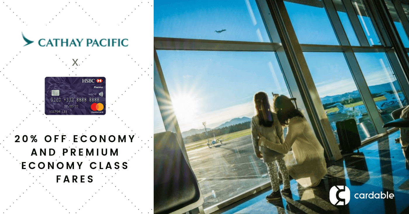 Cathay Pacific 2018 Promotion: 20% off Economy and Premium
