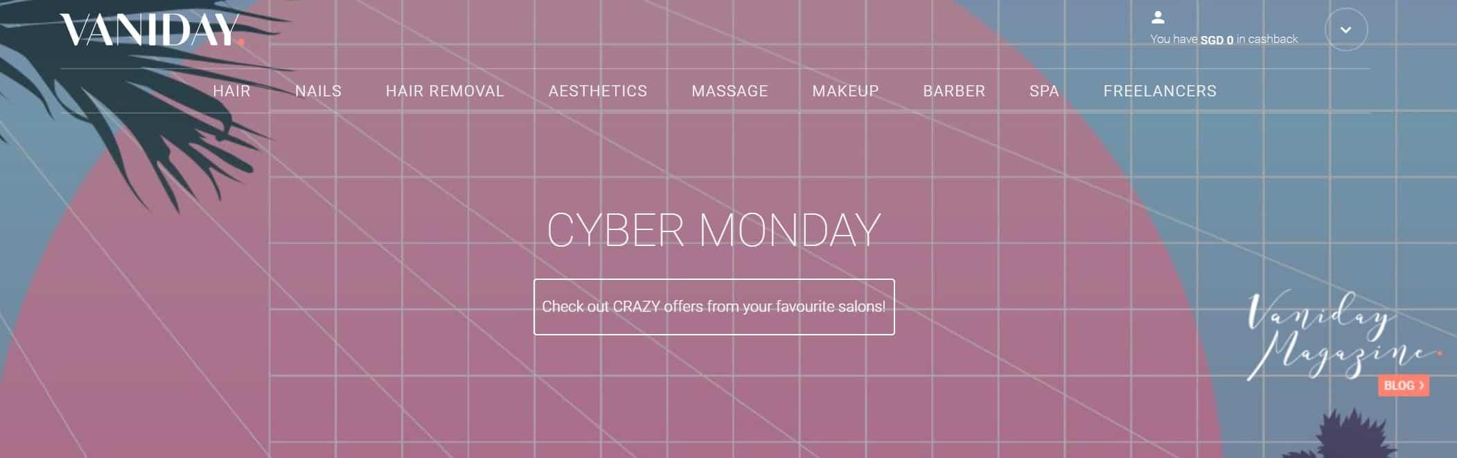 Vaniday Cyber Monday