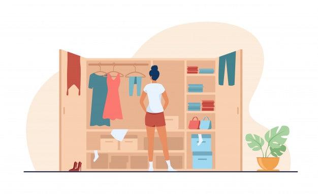 Declutter wardrobe Stay Home