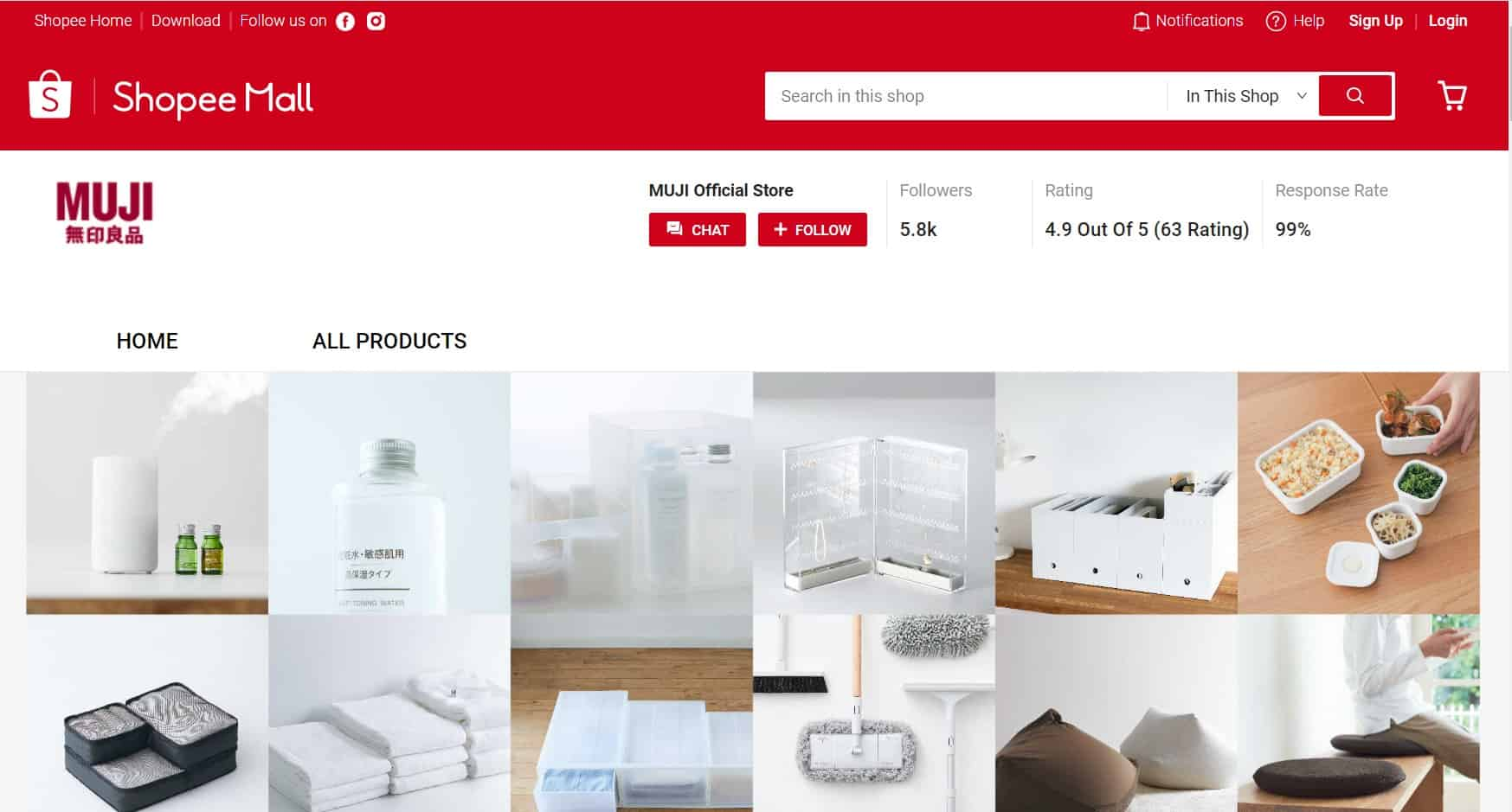 MUJI Official Store on Shopee