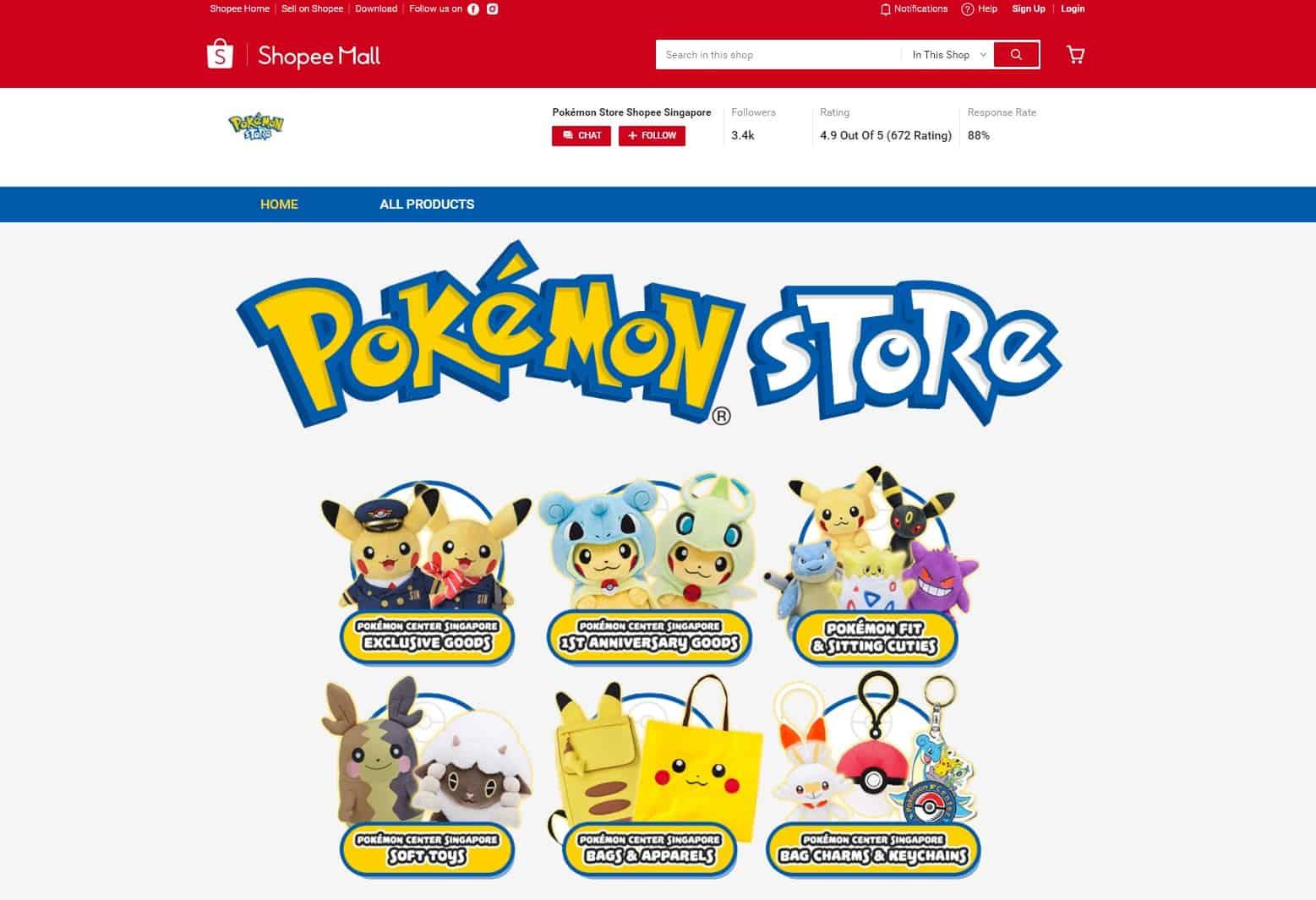 Pokemon Store Shopee Sg