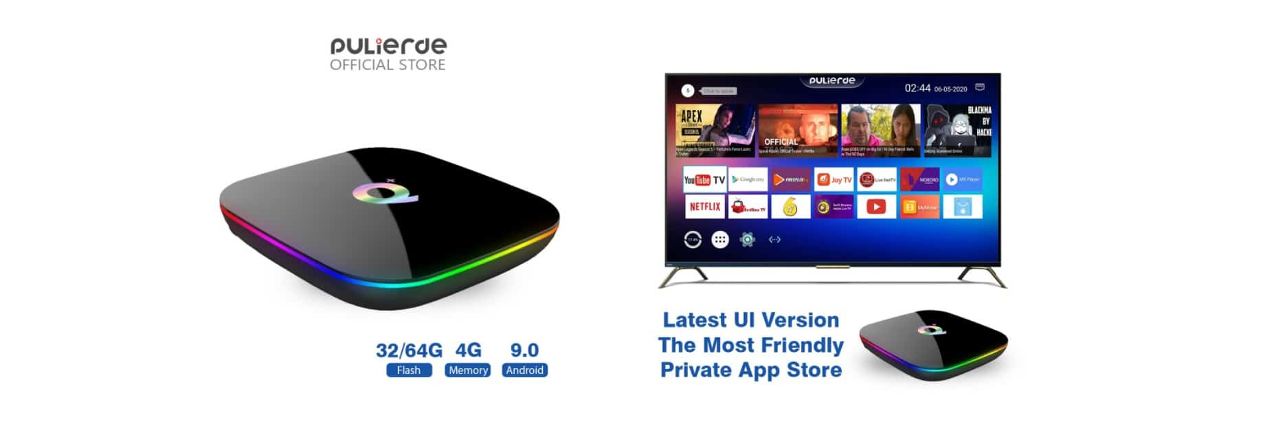 Q+ Android 9.0 TV Box