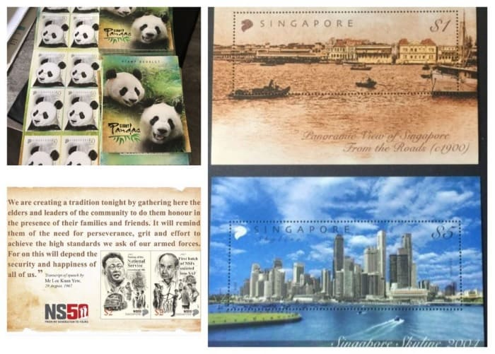 Stamps Singapore Shopee
