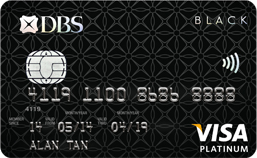 Black visa card